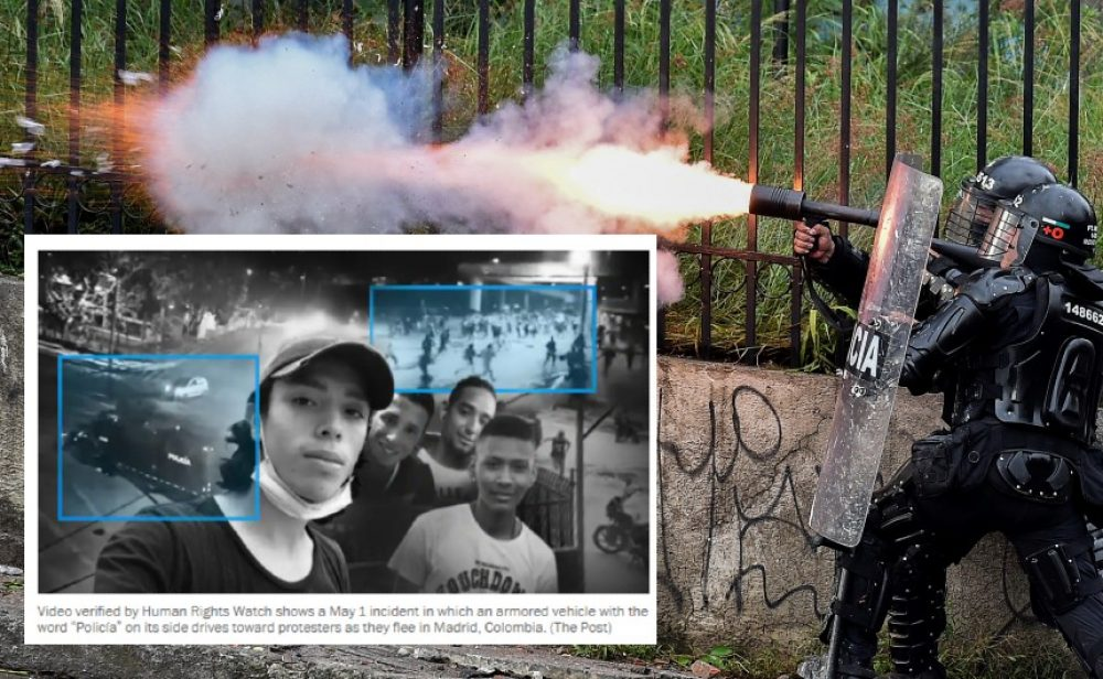 """""""La policía habría cruzado una línea mortal"""": con videos, 'The Washington Post' denuncia asesinatos en las protestas en Colombia"""