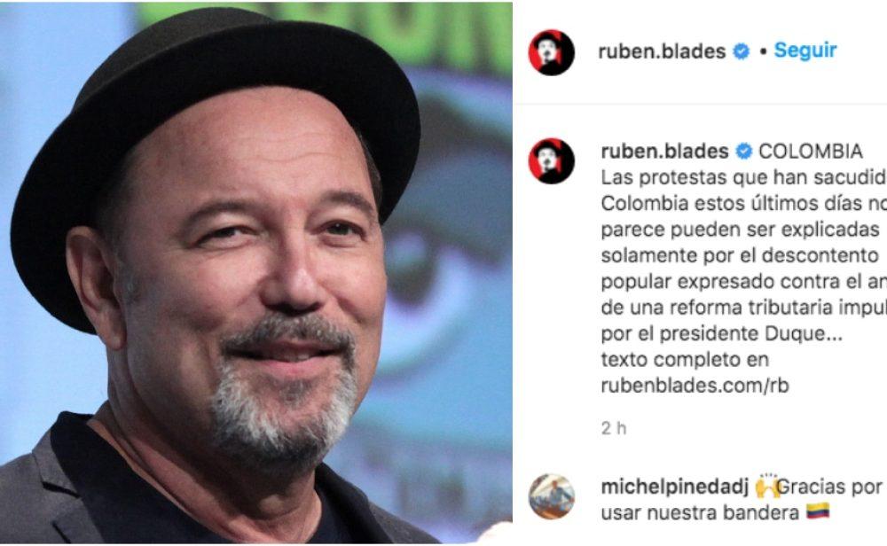 """""""El Gobierno colombiano no debe tratar a su población como en un combate con la guerrilla"""", Rubén Blades"""