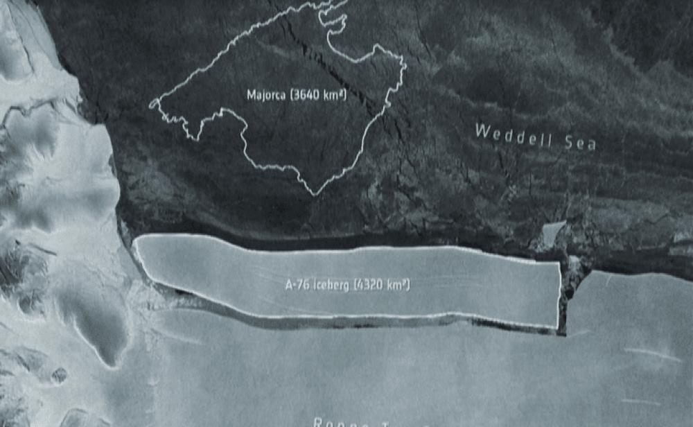 Iceberg que duplica el tamaño de Bogotá se separó de la Antártida