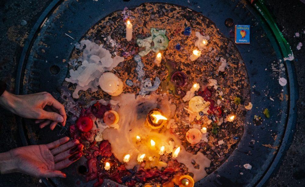 En fotos: homenaje a la joven que denunció agresión sexual por parte de agentes del Esmad