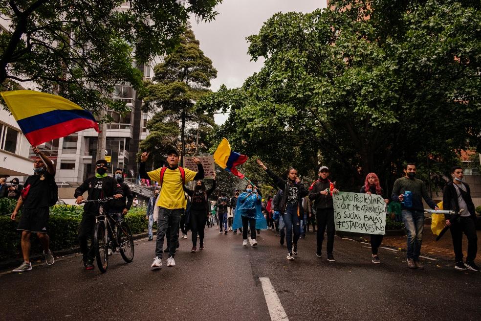 Manifestaciones en Colombia durante el Paro Nacional 2021. Foto: Jhampieer Rangel