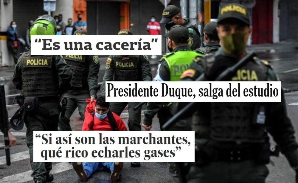 """""""Es una cacería"""": así han cubierto los medios internacionales el primer mes de protestas en Colombia"""