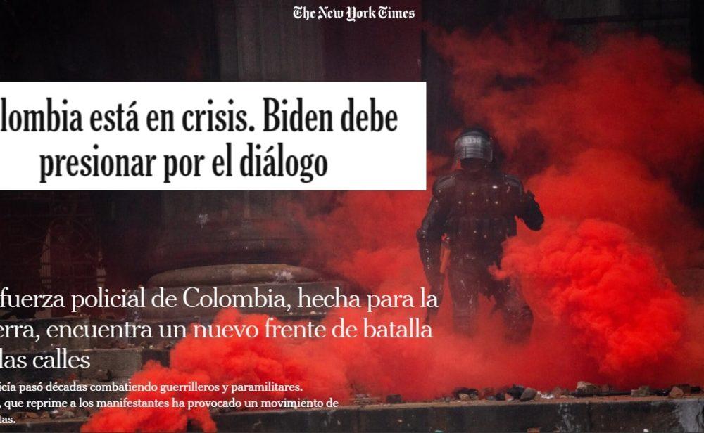 """""""La fuerza policial de Colombia, hecha para la guerra, ahora en las calles"""": las nuevas denuncias de 'The New York Times'"""