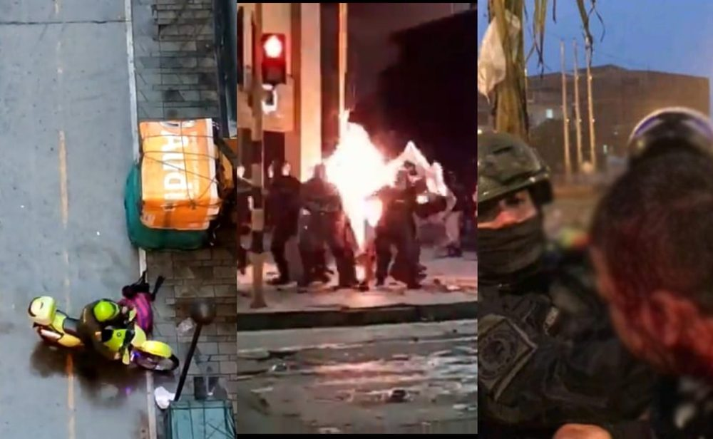 Protestas: entre fuego y piedra se perdieron las palabras