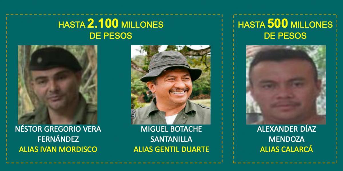 Autoridades ofrecen más de 2.000 millones de recompensa por información de Gentil Duarte.