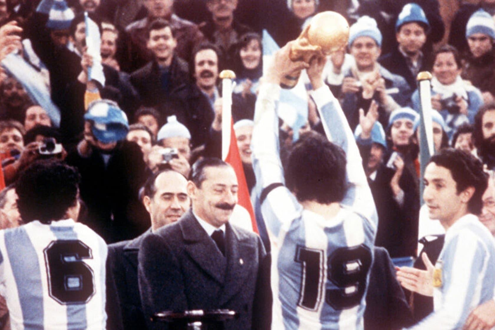 Videla en la final de la Copa Mundial Argentina 1978