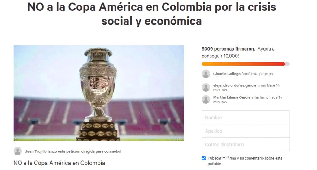 Piden cancelar Copa América