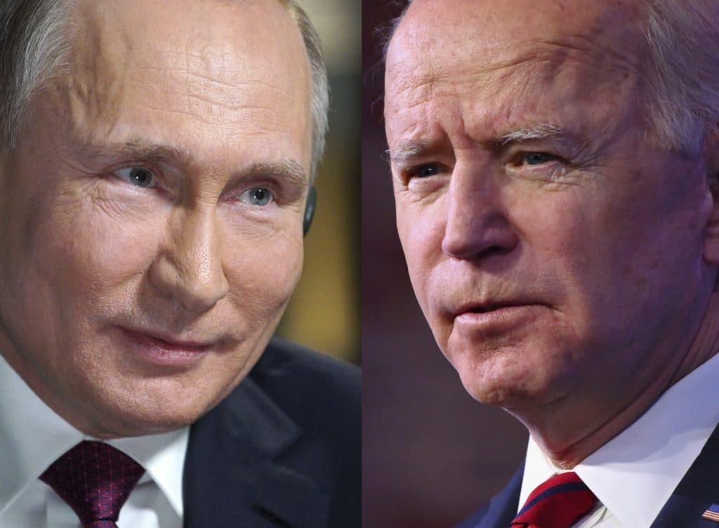 Vladímir Putin y Joe Biden. Fotos: Angela Weiss y Alexey Druzhinin / AFP