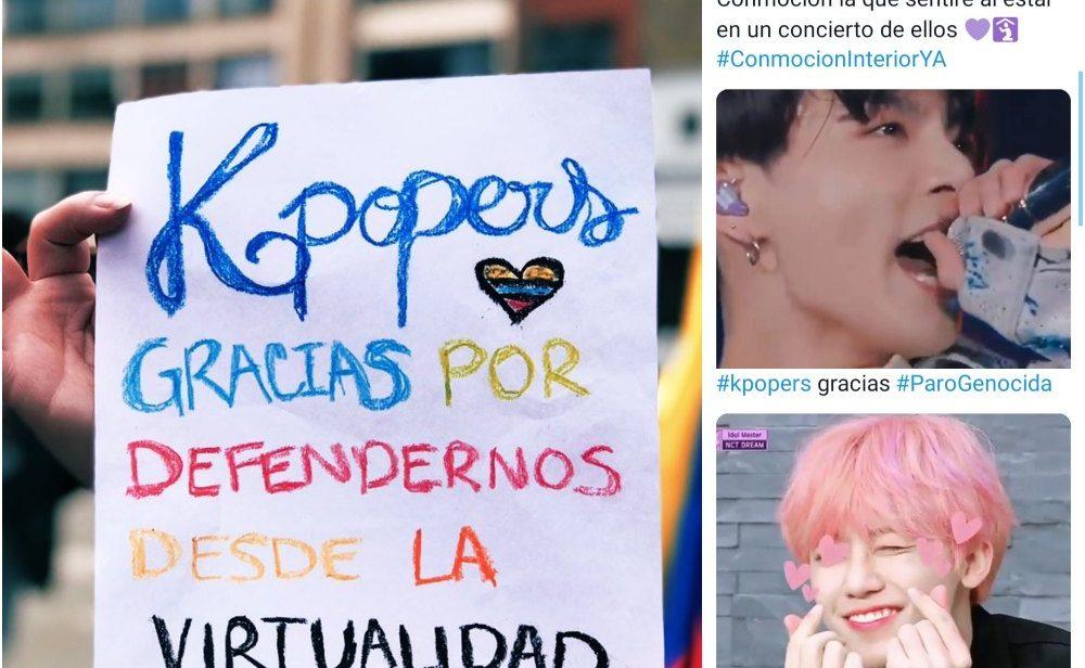 'K-popers' en acción: sigue el activismo digital durante el paro nacional