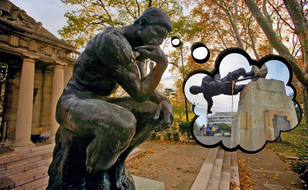 Por quién hablan las estatuas, en especial las caídas en desgracia
