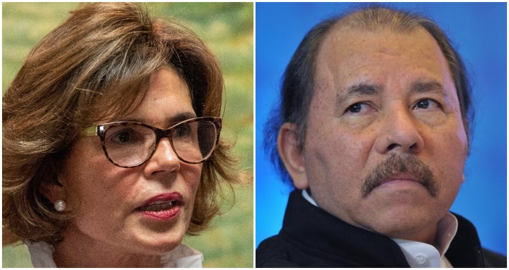 Cristiana Chamorro y Daniel Ortega. Fotos: AFP