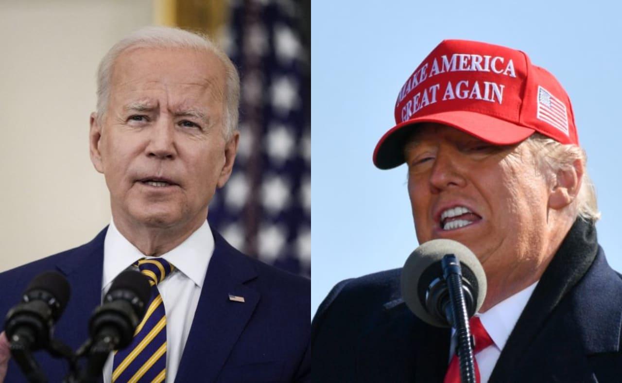Joe Biden y Donald Trump. Foto: AFP