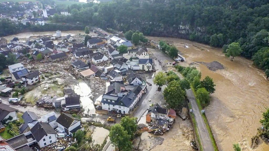 Las inundaciones en Alemania han dejado decenas de desaparecidos. Foto: AFP