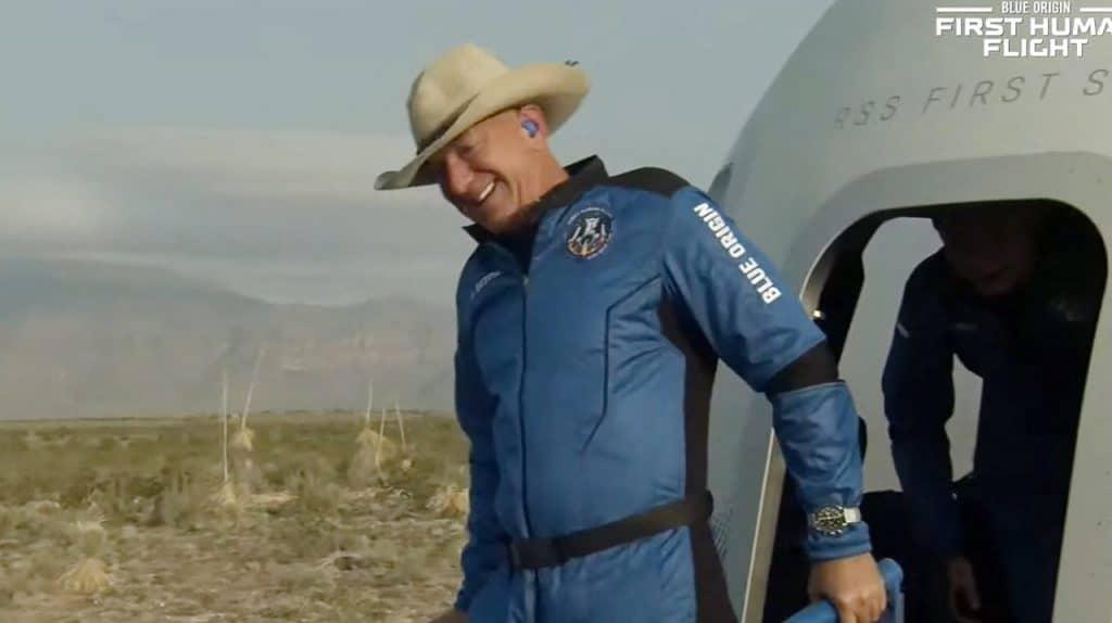 Jeff Bezos viajó al espacio