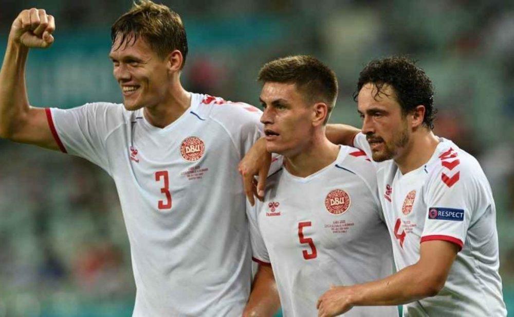 Dinamarca a semifinales de la Eurocopa tras ganar 2-1 contra República Checa
