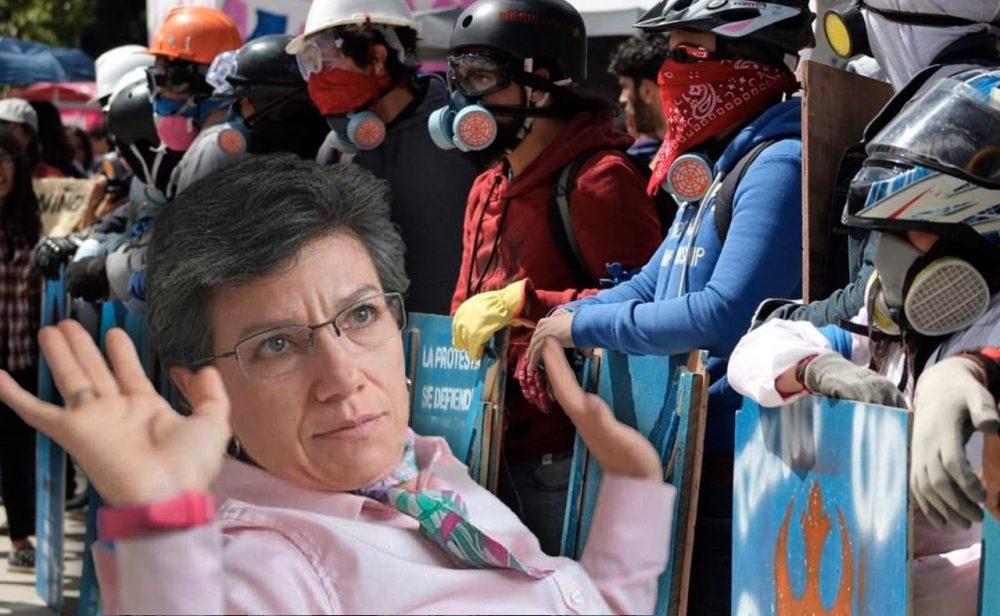 Los puntos que frenan la negociación con la primera línea en Bogotá