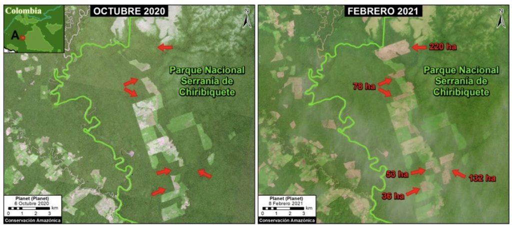 Deforestación en Chiribiquete - Camilo Prieto - Conservación Amazónica