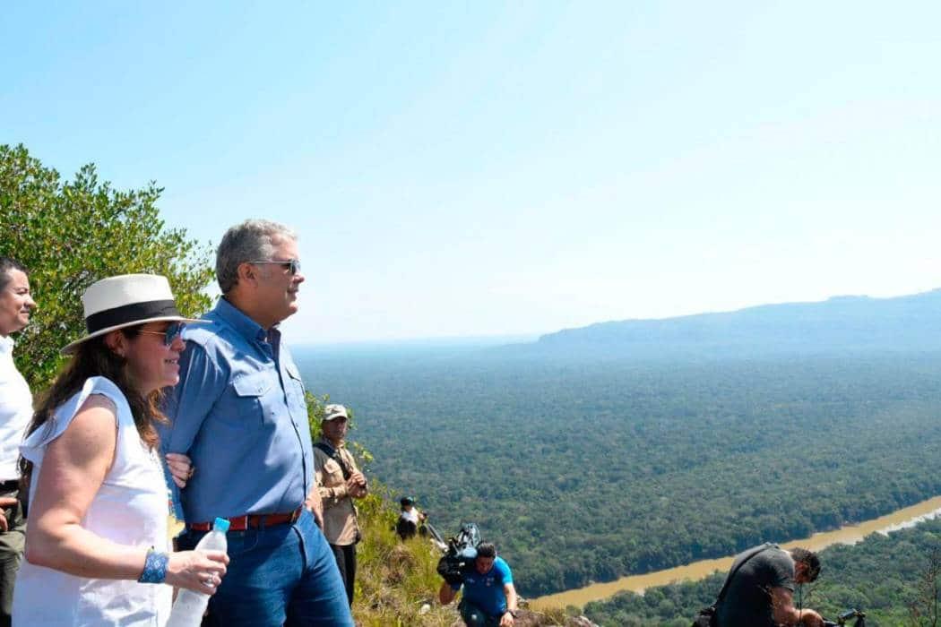 Iván Duque en el Parque Nacional Serranía de Chiribiquete. Foto: Presidencia