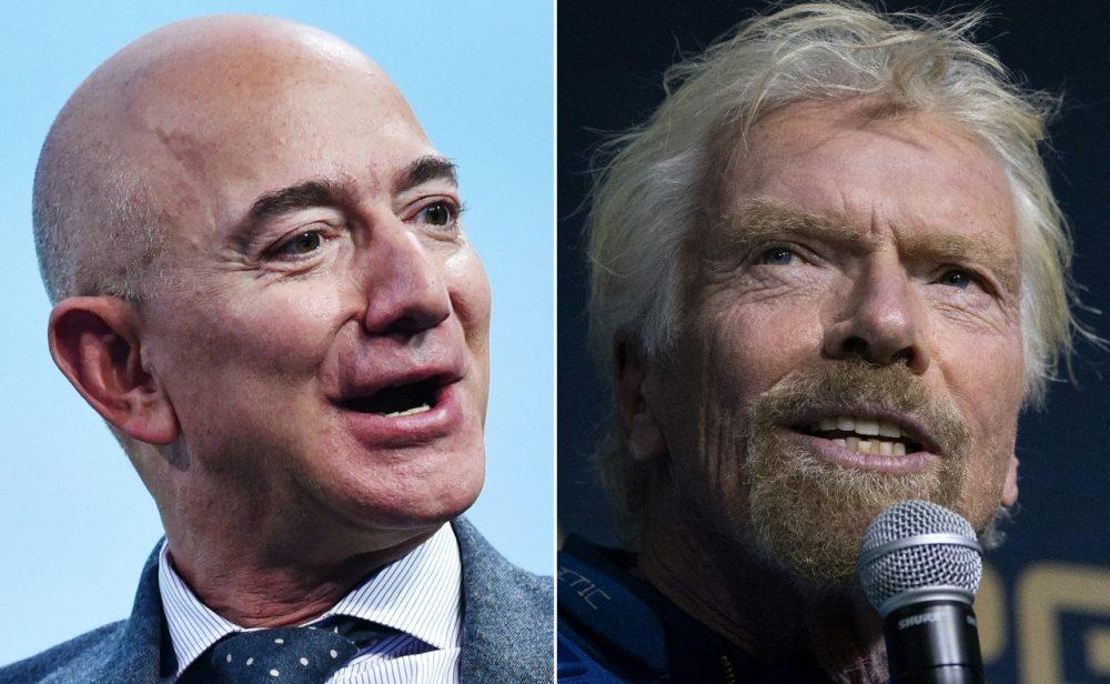 Los millonarios y su guerra por las estrellas:  Jeff Bezos y Richard Branson viajarán al espacio