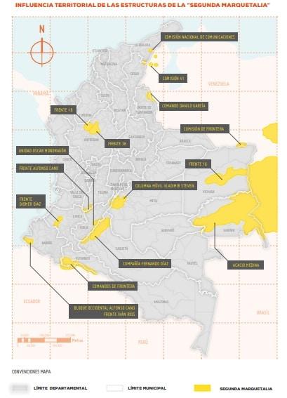 Presencia de la Segunda Marquetalia en Colombia - Fundación Ideas para la Paz