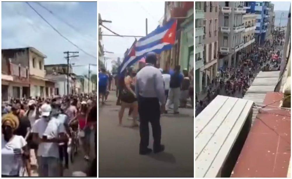 """""""¡Abajo la dictadura!"""": cubanos salen a las calles a protestar en contra del Gobierno"""
