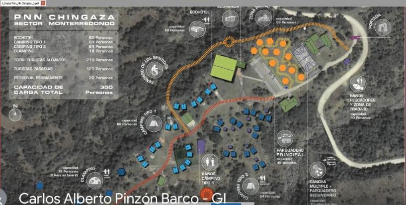 Parque Chingaza: Planos del supuesto proyecto turístico