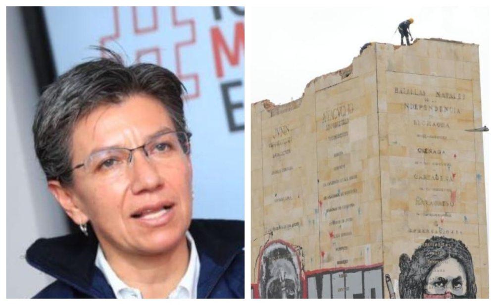 Las críticas infundadas a Claudia López por el monumento a los Héroes