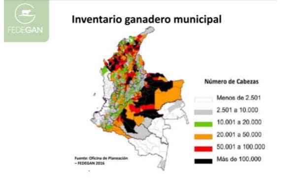 Inventario ganadero por municipio - Fedegan