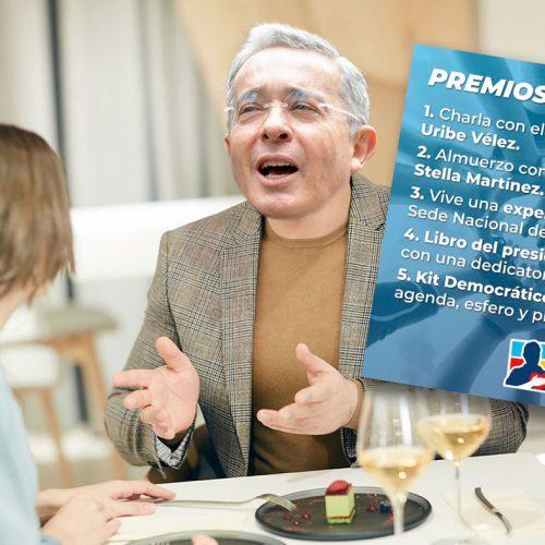 'Una charla con Uribe', el premio mayor de la rifa uribista para acercarse a los jóvenes