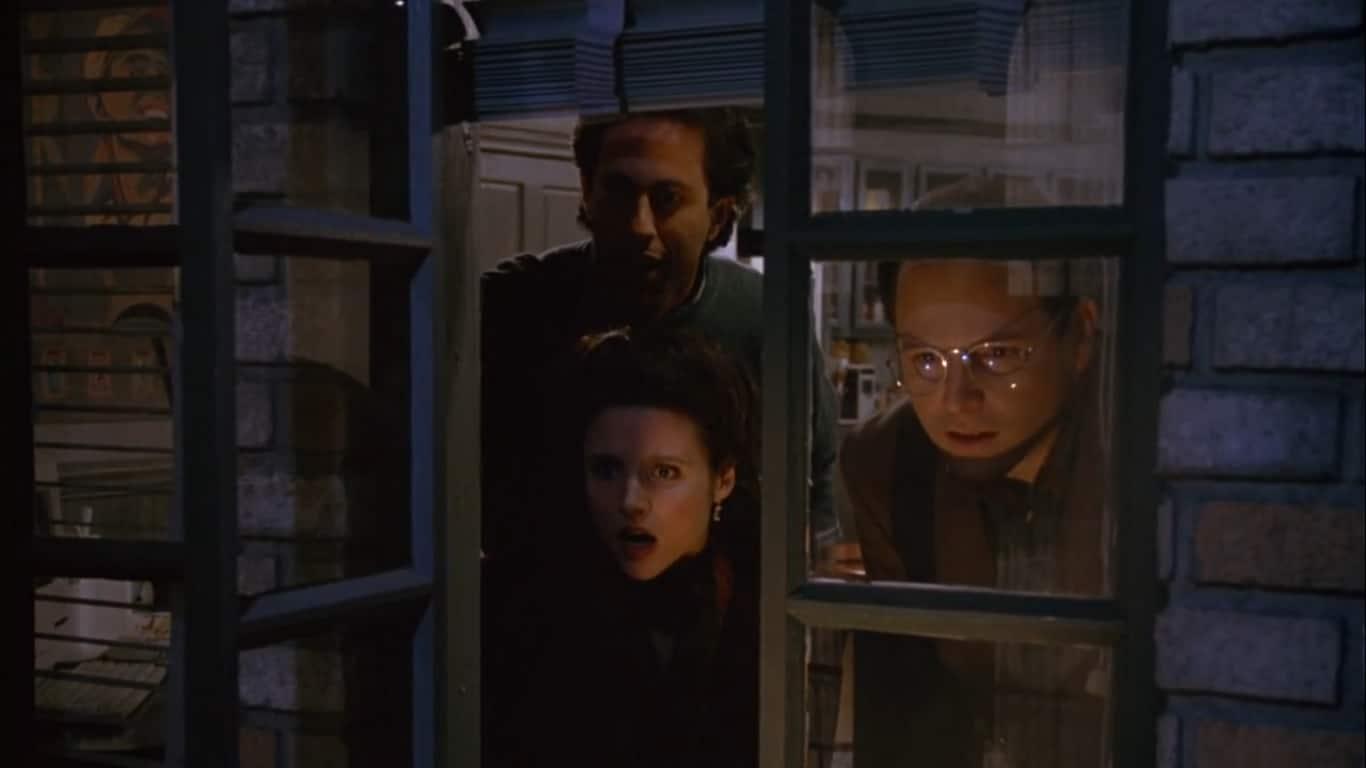 Elaine, Jerry y George en el episodio The Contest..