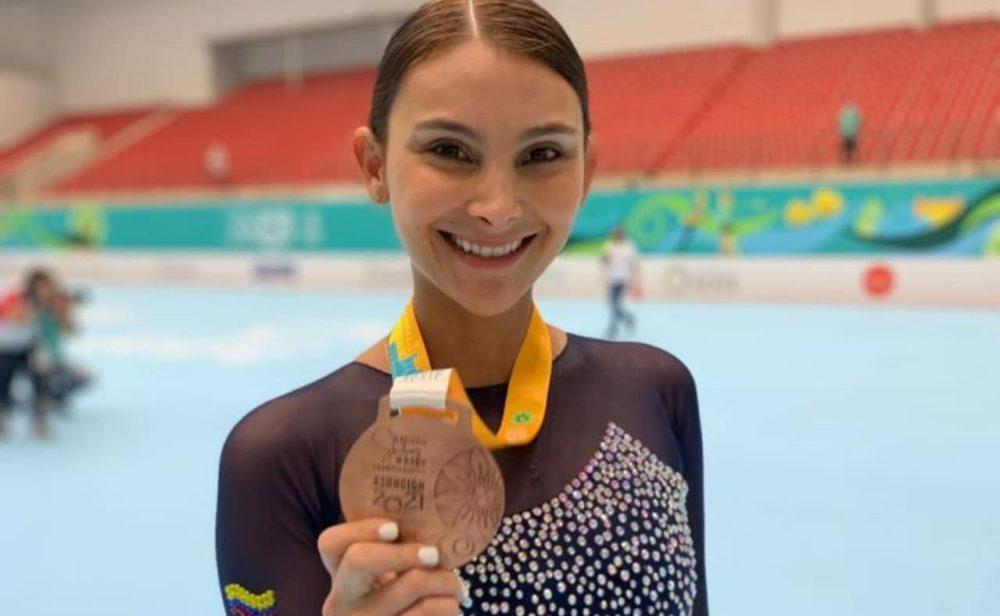 Carolina Báez, la gema del patinaje artístico colombiano