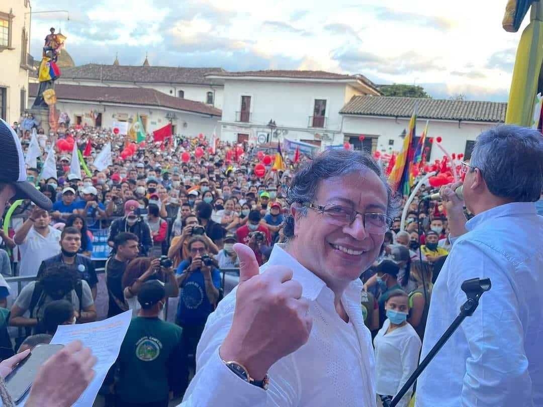 Gustavo Petro, en Popayán, en un evento del Pacto Histórico