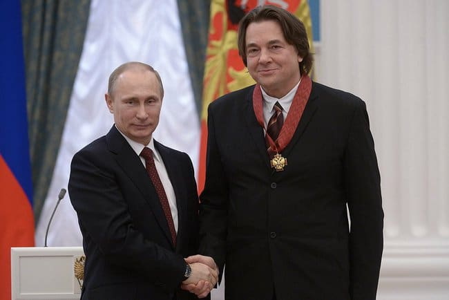 Vladímir Putin y Konstantin Ernst.
