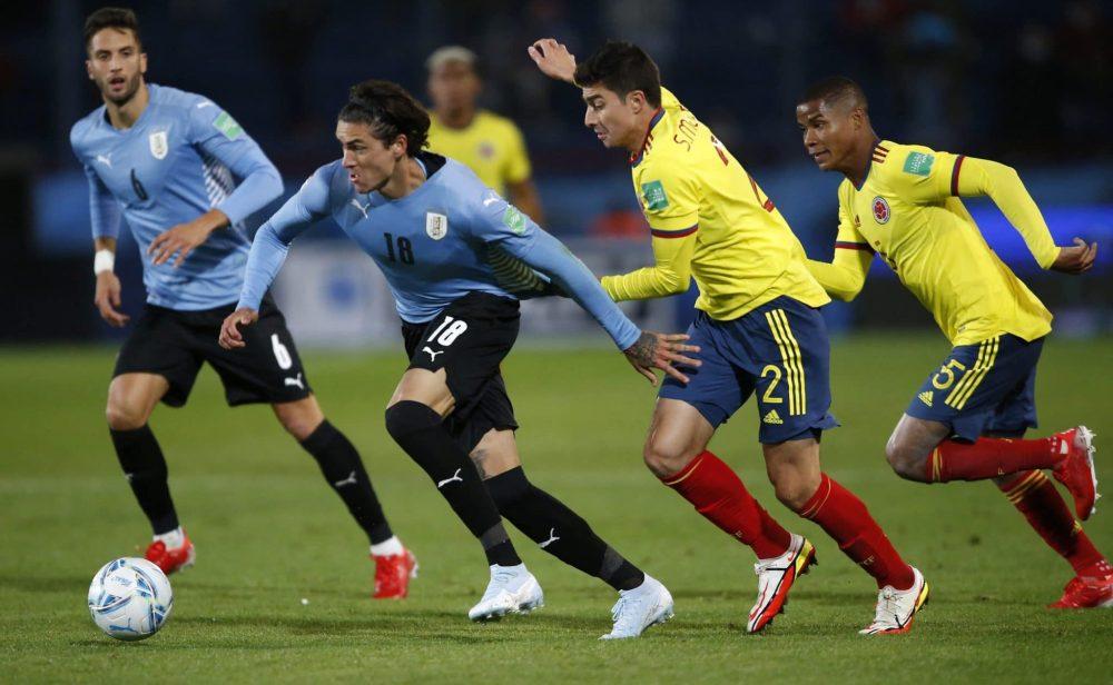 Colombia empata 0-0 con Uruguay, en Montevideo